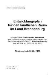 Entwicklungsplan für den ländlichen Raum im Land Brandenburg