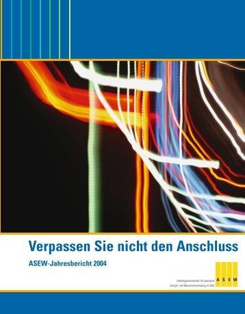Jahresbericht 2004 - ASEW