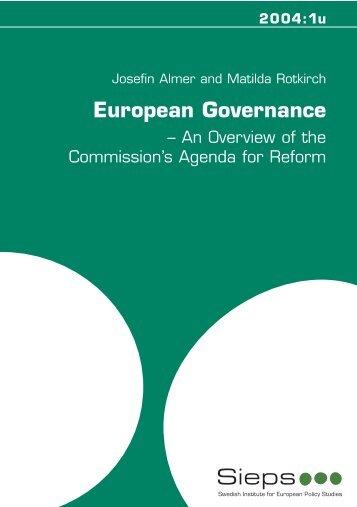 2004:1u European Governance: An Overview of the - Sieps