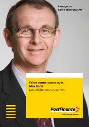 Faites connaissance avec Max Burri - Des collaborateurs racontent