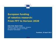 2.1 From FP7 towards Horizon 2020, Prof. Dr. Herman ... - EU-nited