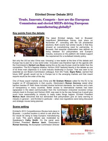 EUnited Dinner Debate report 2012