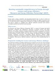 Resource and Energy Efficiency Partnership - EU-nited