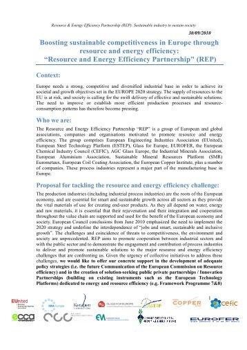 Resource and Energy Efficiency Partnership - EU-nited