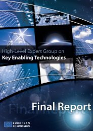 Final report on Key Enabling Technologies - European Commission ...