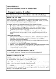 Course Details (pdf) - PORTAL - Promotion of results in Transport ...