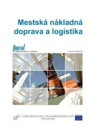 10. Mestská nákladná doprava a logistika