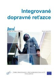 Table of Contents - PORTAL - Promotion of results in Transport ...