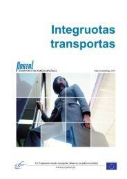 Integruotos transporto sistemos - PORTAL - Promotion of results in ...