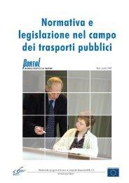 11. Struttura regolamentare e legislazione nel Trasporto Pubblico