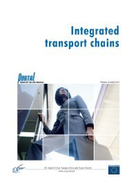 9. Integrated Transport Chains - PORTAL - Promotion of results in ...