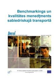 Benchmarkings un kvalitātes menedžments sabiedriskajā transportā ...
