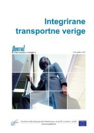 9. Integrirane transportne verige - PORTAL - Promotion of results in ...