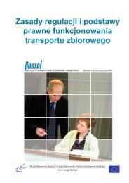 Ramy regulacyjne i ustawodawstwo w Transporcie Publicznym 1 ...