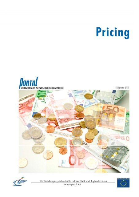 2. Pricing - PORTAL - Promotion of results in Transport Research ...