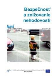 9. Bezpečnosť a znižovanie nehodovosti - PORTAL