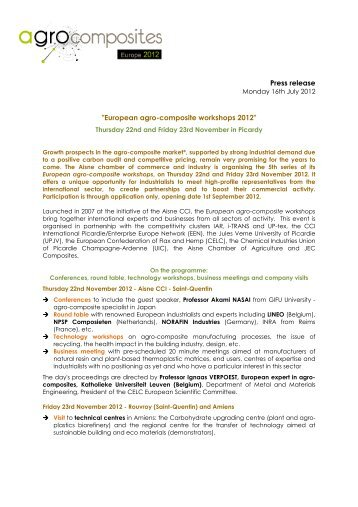 European agro-composite workshops 2012 - Enterprise Europe ...