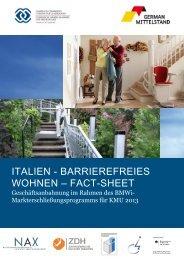 Fact Sheet Barrierefreies Wohnen
