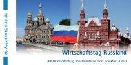 Flyer Wirtschaftstag Russland
