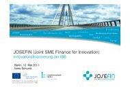 JOSEFIN (Joint SME Finance for Innovation)
