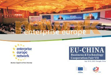 Business &Technology Cooperation Fair VII - Enterprise Europe ...