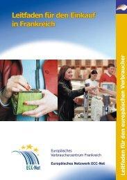 Leitfaden für den Einkauf in Frankreich (pdf) - Europäisches ...