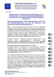 Pressemitteilung - Europäisches Verbraucherzentrum Deutschland