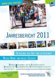 Jahresbericht 2011 - Zentrum für Europäischen Verbraucherschutz eV