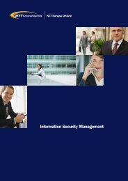 Information Security Management - NTT Europe