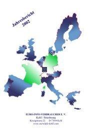 Jahresbericht 2002 - Europäisches Verbraucherzentrum Deutschland