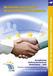 SCHLICHTUNG leicht gemacht - Europäisches Verbraucherzentrum ...