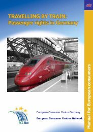 TRAVELLING BY TRAIN: Passenger rights in Germany - BMELV
