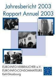 Jahresbericht 2003 Rapport Annuel 2003 - Europäisches ...
