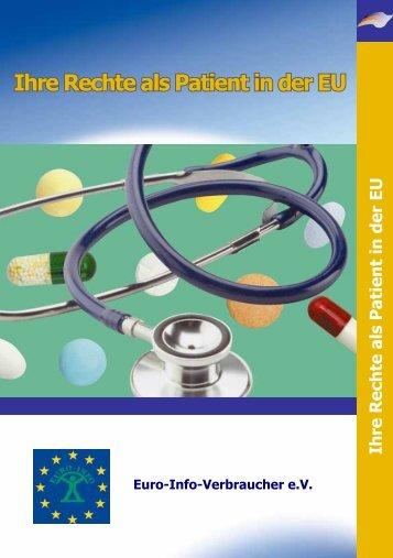 """Broschüre """"Ihre Rechte als Patient in der EU - Europäisches ..."""