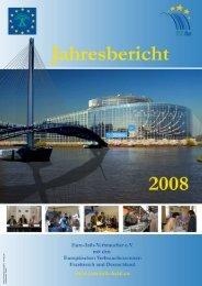 Jahresbericht 2008 - Europäisches Verbraucherzentrum Deutschland
