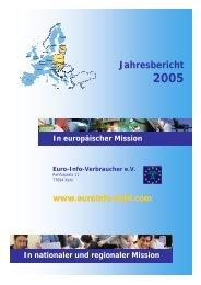 Jahresbericht - Europäisches Verbraucherzentrum Deutschland