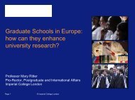Graduate Schools in Europe: how can they enhance university ...