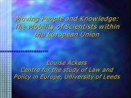 Louise Ackers - European University Association