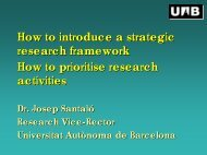 Slide presentation by Josep Santaló - European University Association