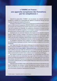 TUNING en France - European University Association