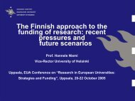 The Finnish approaches to the costing of research - recent ...