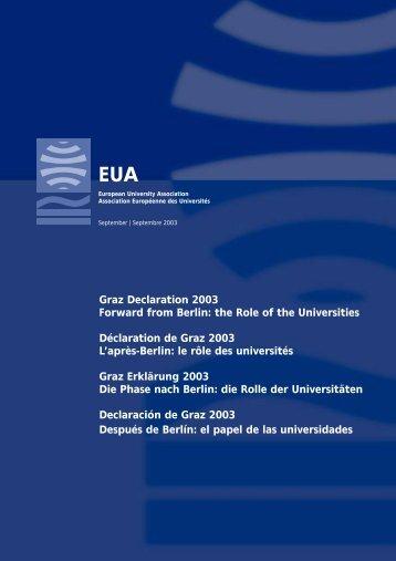 Declaración de Graz - European University Association
