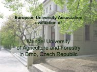 Mendel University - European University Association