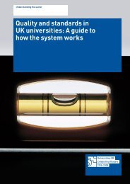 Quality and standards in UK universities - European University ...