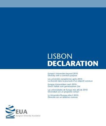 LISBON DECLARATION - European University Association