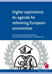Higher aspirations: an agenda for reforming European universities