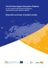 The EU-Asia Higher Education Platform Executive summary of ...