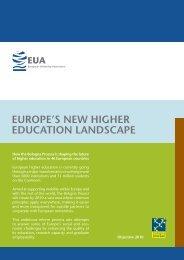europe's new higher education landscape - European University ...