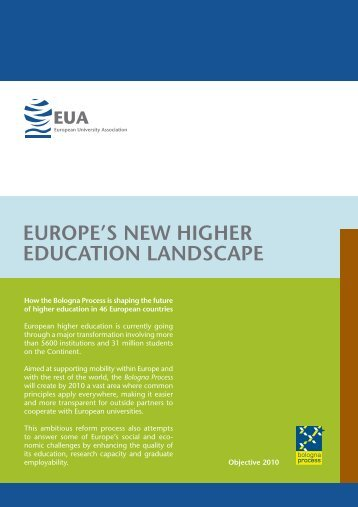 europe's new higher education landscape - European University ...