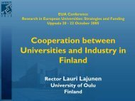 Cooperation between Universities and Industry in Finland